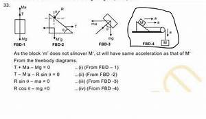 Homework And Exercises - Accelerations In A Free Body Diagram