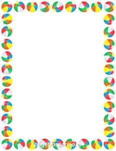 Free Summer Page Border Clip Art