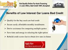 Low Interest Car Loans with Bad Credit