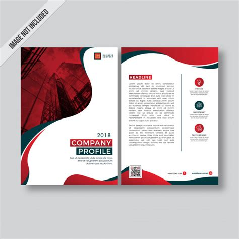 rode bedrijfsprofiel flyer met een modern design vector