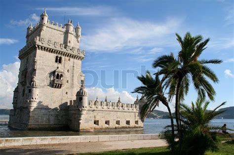 belem tower torre de belem  lisbon portugal stock