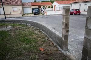 Muret De Cloture : montage du muret d 39 enceinte et pose des couvertines et ~ Melissatoandfro.com Idées de Décoration