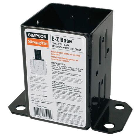 simpson strong tie  gauge black powder coated   base