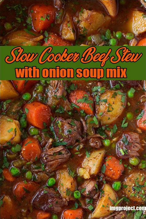 Tastes just like liptons onion soup mix. Slow Cooker Beef Stew With Onion Soup Mix - imgproject