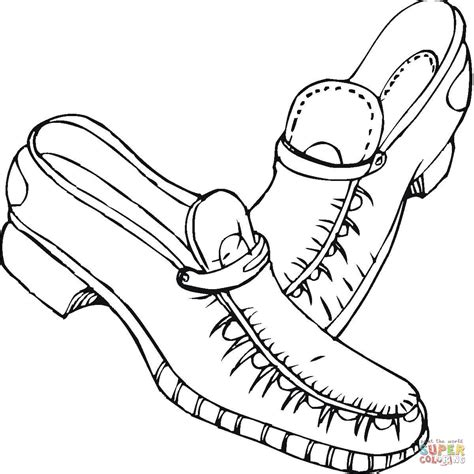 shoes coloring page  printable coloring pages