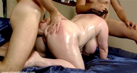 Milf Is Oiled And Fucked By 2 Muscle Bound Studs Free