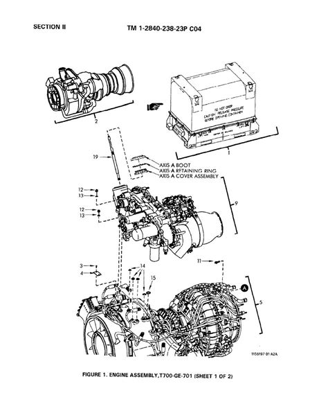 Ge T700 Diagram by Figure 1 Engine Assembly T700 Ge 701 Sheet 1 Of 2