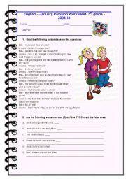 exercises 5th grade test 1