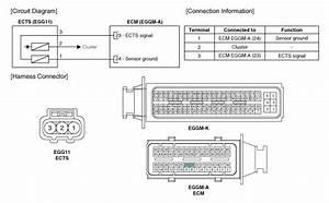 Hyundai Veloster  Engine Coolant Temperature Sensor  Ects