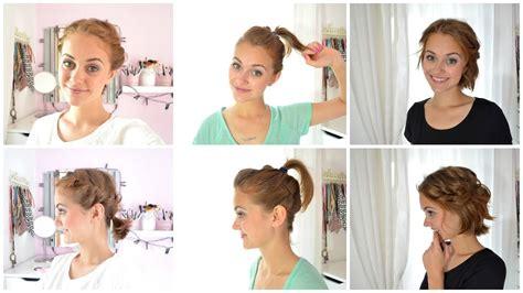 hair tutorial einfache kurzhaarfrisuren youtube