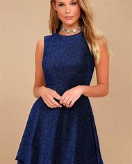Royal Blue Skater Dress into the Night