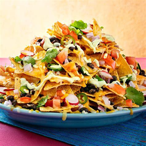 nachos supreme recipe mile high nachos supreme with avocado rachael