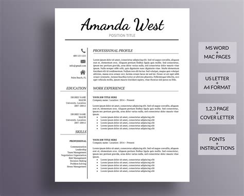 Resume Template Modern by Resume Template Modern Resume Template Professional