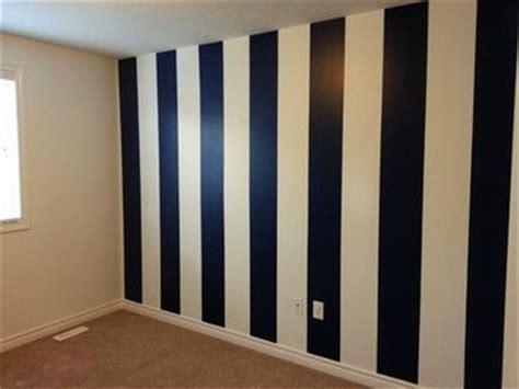 navy blue white vertical striped wall church painting