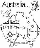 Australia Map Australian Printable Clipart Colouring Coloring Flag Drawing Native Animal Coloured Colour Kangaroo Vanuatu Sketch Templates Boasts Diversity Wales sketch template