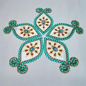 1 kundan rangoli design Image