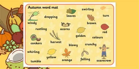 Word Mat, Harvest, Autumn, Seasons, A4