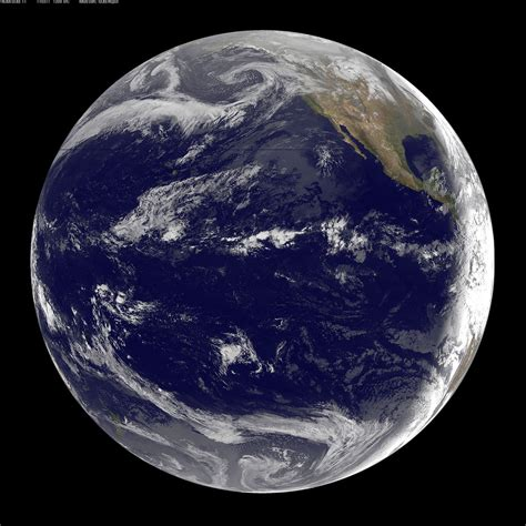 Goes 11 Satellite Sees Pacific Ocean Basin After Japan Qua