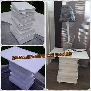 Tisch Aus Büchern : mein erster beistelltisch aus b chern ist fertig die f sse sind aus kleinen holzkl tzen die ~ Buech-reservation.com Haus und Dekorationen