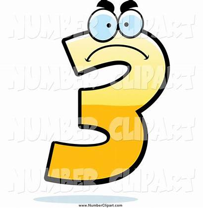 Number Clipart Clip Yellow Three Clipartbay Arts