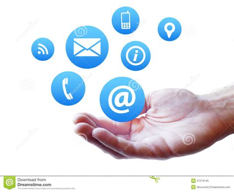Website Contact Page Icons Concept Royalty Free Stock