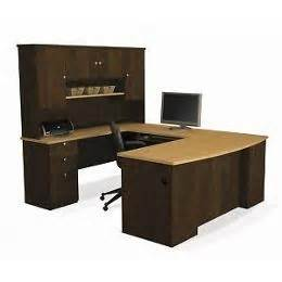 bestar manhattan u shaped workstation laminate