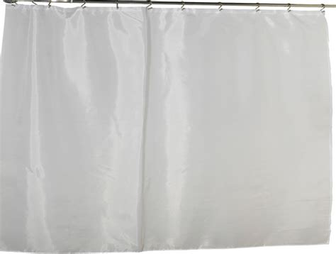 wide polyester fabric shower curtain liner in white