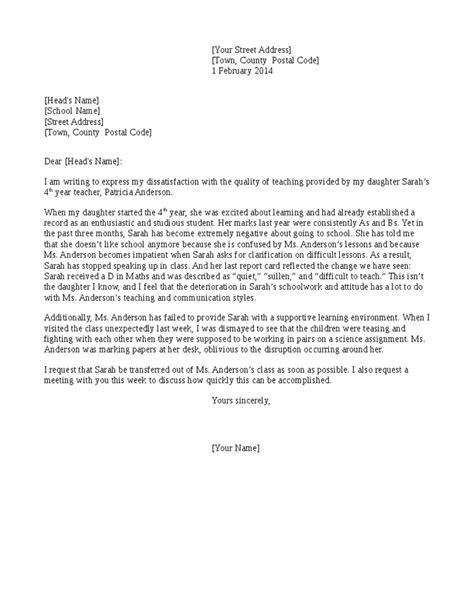 5+ Teacher complaint letters – Find Word Letters