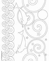 Dolphin Coloring Pages Printable Pattern Another Crochet Patterns Fun Donteatthepaste Knitting Template Bookmarks Larger Version Printablee sketch template