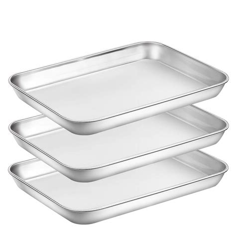 baking oven pans sheet stainless pan toaster steel cookie metal clean sheets finish convection umite chef aluminum dishwasher easy safe