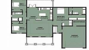 Simple 3 Bedroom House Floor Plans Simple 3 Bedroom 2 Bath ...