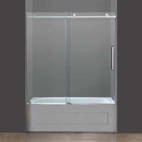 bathtub sliding doors aston tdr976 frameless tub height sliding shower door