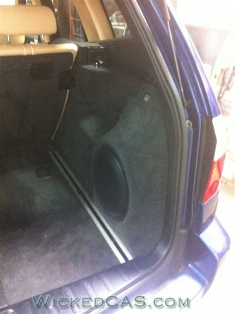 new magic box bmw x3 sub box subwoofer enclosure 2004 2010 bavarian x3 now gets bass trailblazer