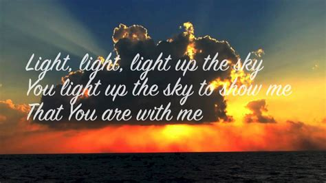 Light Up The Sky The Afters by Light Up The Sky By The Afters Lyrics On Screen
