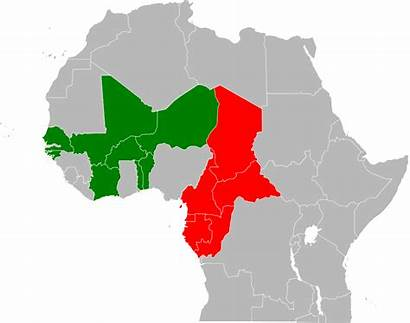 Cfa Franc Map Wikipedia Svg