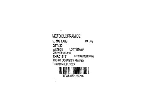 Metoclopramide (state Of Florida Doh Central Pharmacy