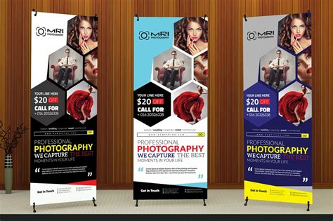 photography roll  banner flyer templates creative market