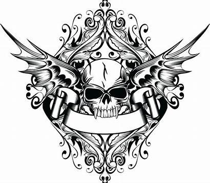 Skull Tattoo Wings Transparent Vleugels Cranio Clipart