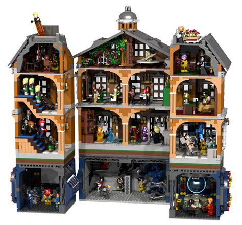 lego x mansion concept a home for gifted minifigs