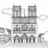 Paris Notre Dame Pages Cathedral Coloring Taj Mahal Printable Drawing Adult Stress Chocobo Opera Anti Colouring Projet Coloriages Categories Par sketch template