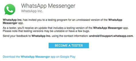 whatsapp rolls out android beta program play store