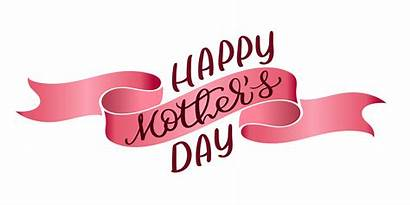 Ribbon Vector Mothers Happy Calligraphy Text Lettering