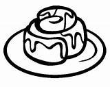 Cinnamon Roll Coloring Cookie Rolls Potato Canela Forward Besoek sketch template