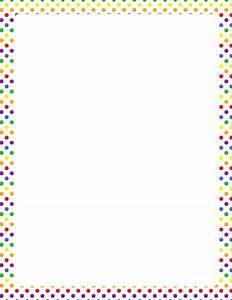 Printable rainbow polka dot border. Free GIF, JPG, PDF ...