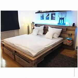 Palettenbett Bett Aus Paletten Saris Garage