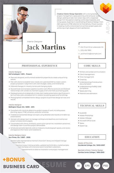 cv interior designer template jack martins interior designer resume template 66437