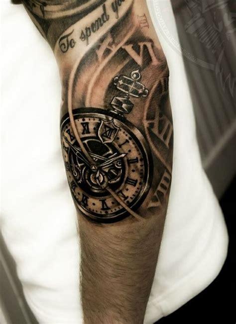 biomechanics tattoo arm tattoos ideas black clock