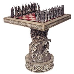 Arthurian Chess Set and Pieces from Dark Knight Armoury