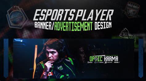 photoshop tutorial esports player bannerad design youtube