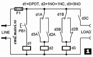 emilmatei on off switch using 3 relays ten versions With pulse on off relay